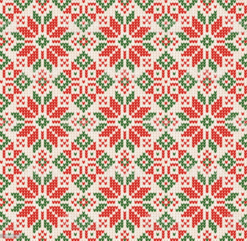 Ugly Sweater Christmas Season Winter Seamless Background ...