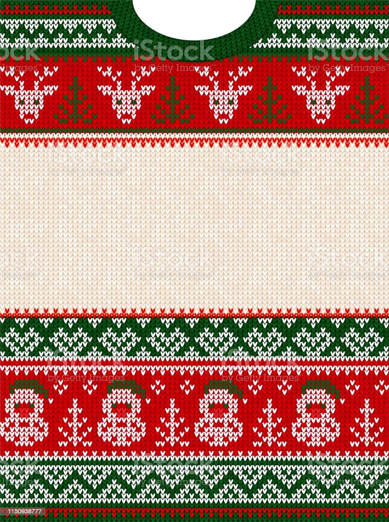 Ugly Sweater Merry Christmas Party Invite Template Scandinavian