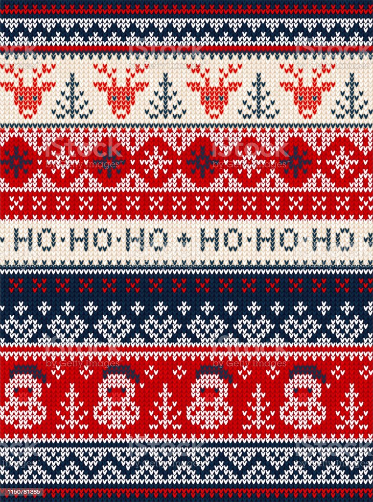 Ugly Sweater Merry Christmas Party Ornament Background ...