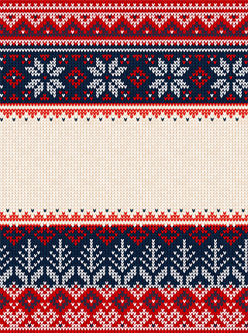 Ugly sweater Merry Christmas party ornament background seamless pattern