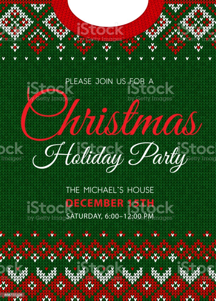 Ugly sweater party merry christmas happy new year greeting card ugly sweater party merry christmas happy new year greeting card royalty free m4hsunfo