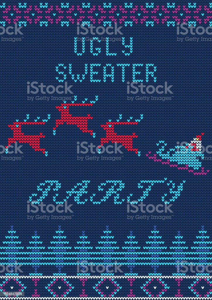 Ugly Sweater Party vector art illustration
