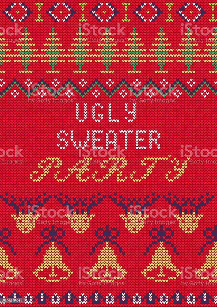 Ugly Sweater Party3 vector art illustration