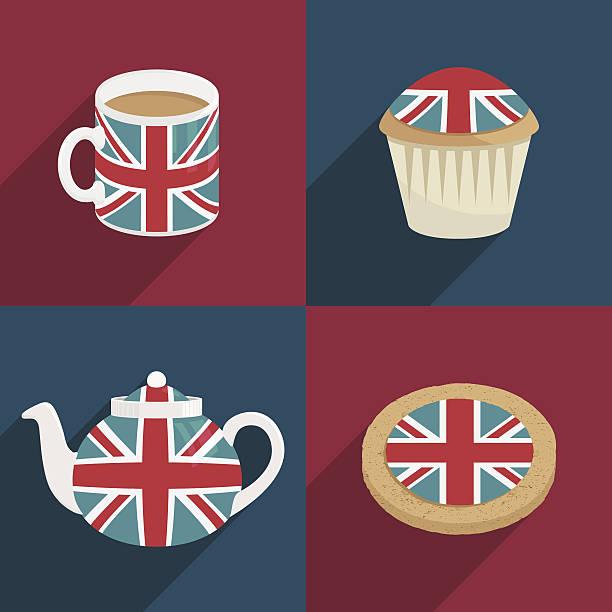 英国の装飾 - イギリスの国旗点のイラスト素材/クリップアート素材/マンガ素材/アイコン素材