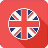 uk flat flag icon