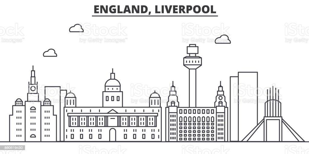 Ilustración de Reino Unido Ilustración De Liverpool Arquitectura ...