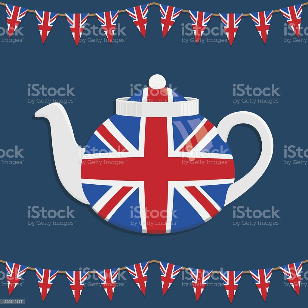 uk teapot vector art illustration