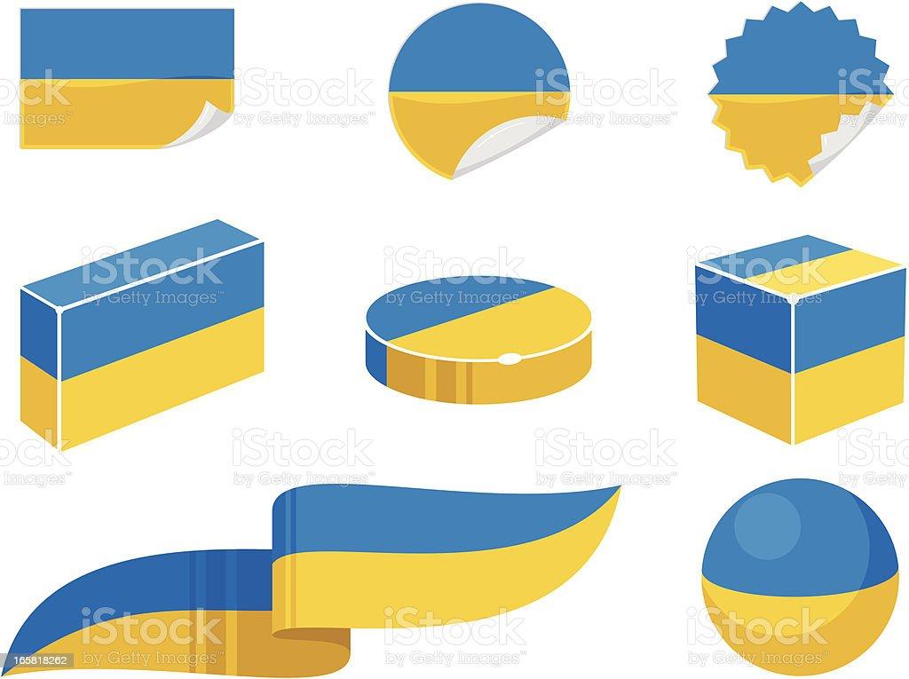 Ukraine Design Elements vector art illustration