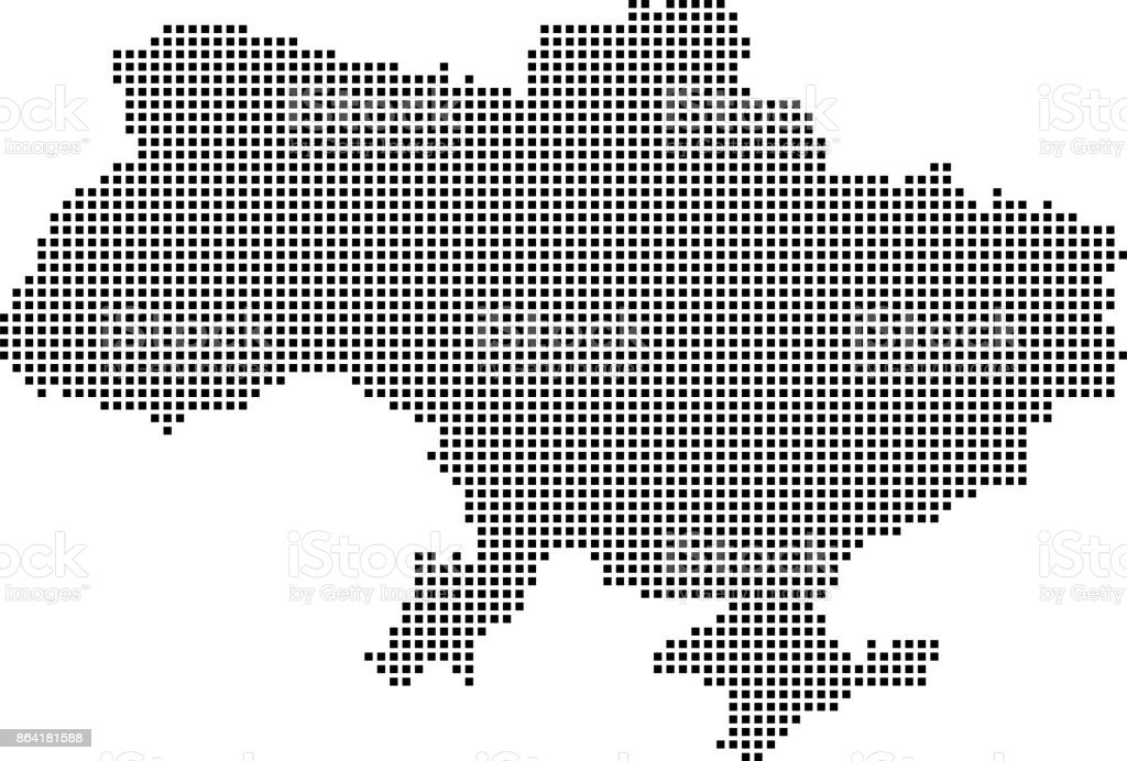 Ukraine map dots. Dotted Ukraine map vector outline. Highly detailed pixelated Ukraine map in black and white illustration background royalty-free ukraine map dots dotted ukraine map vector outline highly detailed pixelated ukraine map in black and white illustration background stock vector art & more images of abstract