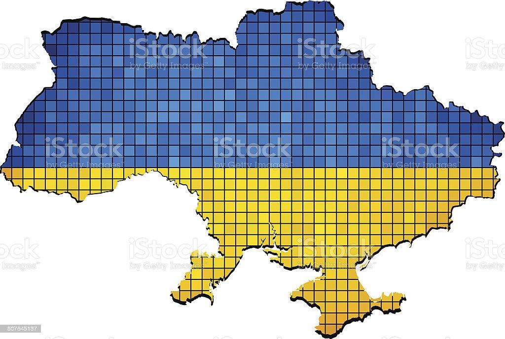 Ukraine map grunge mosaic royalty-free stock vector art