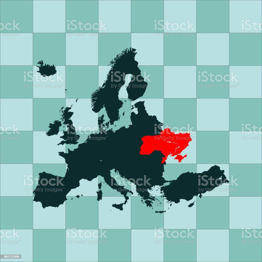 Ukraine map royalty-free ukraine map stock illustration - download image now
