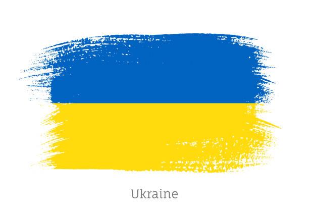 116 Ukrainian Flag Paint Ukraine Flag Stock Photos Pictures Royalty Free Images Istock