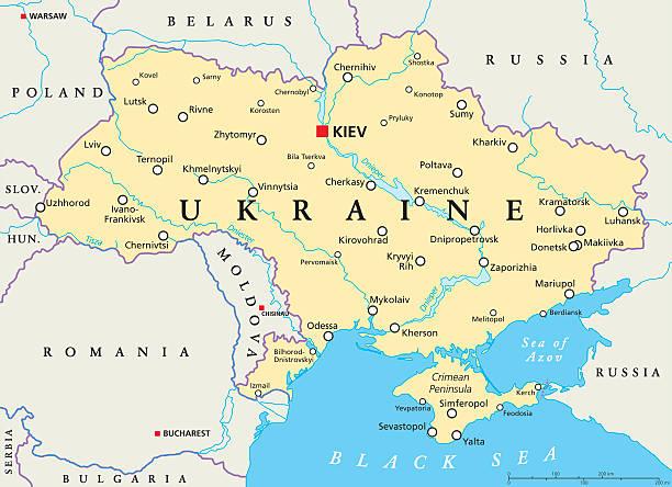 ukraine political map - 烏克蘭 幅插畫檔、美工圖案、卡通及圖標