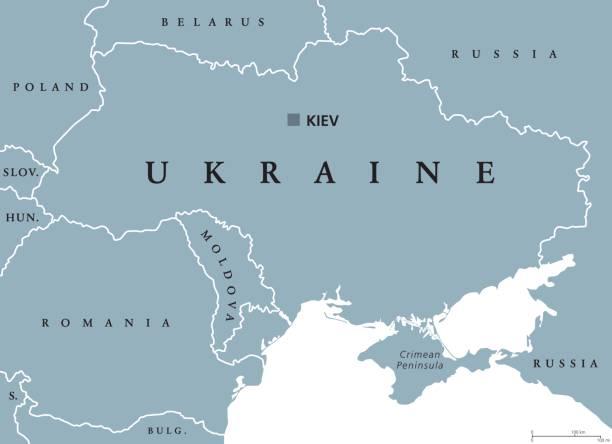 烏克蘭政治地圖 - 烏克蘭 幅插畫檔、美工圖案、卡通及圖標