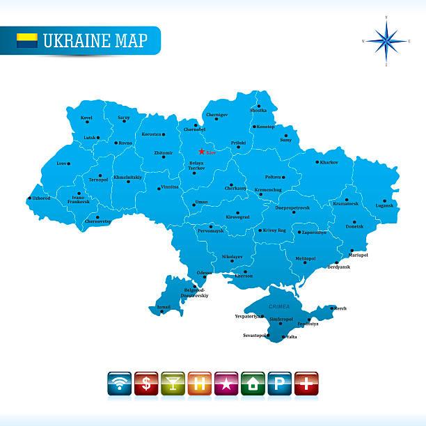 ウクライナベクトルマップ - ウクライナ点のイラスト素材/クリップアート素材/マンガ素材/アイコン素材