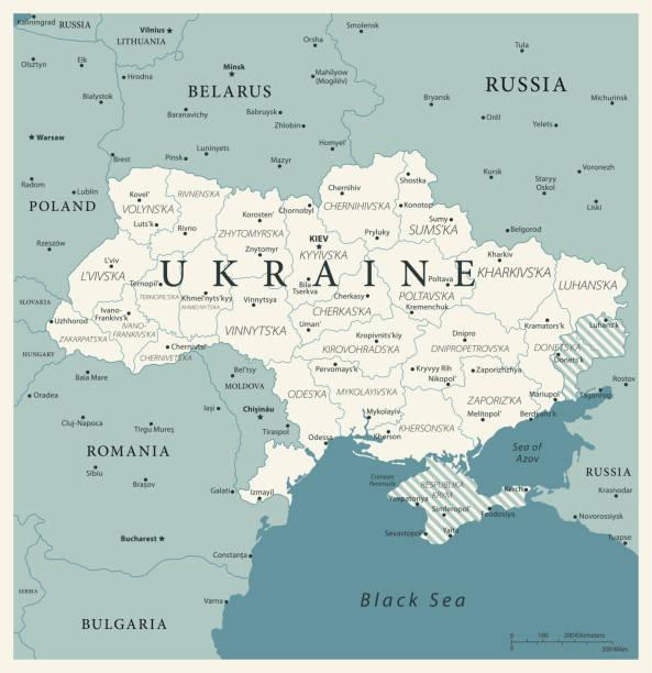 23-ウクライナ - ビンテージ murena 10 - ウクライナ点のイラスト素材/クリップアート素材/マンガ素材/アイコン素材