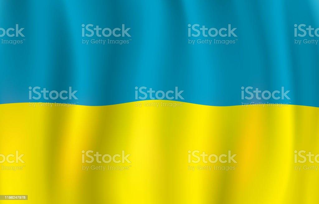 Ilustracion De Bandera Ucraniana Bandera Azul Y Amarilla Y Mas Vectores Libres De Derechos De Amarillo Color Istock