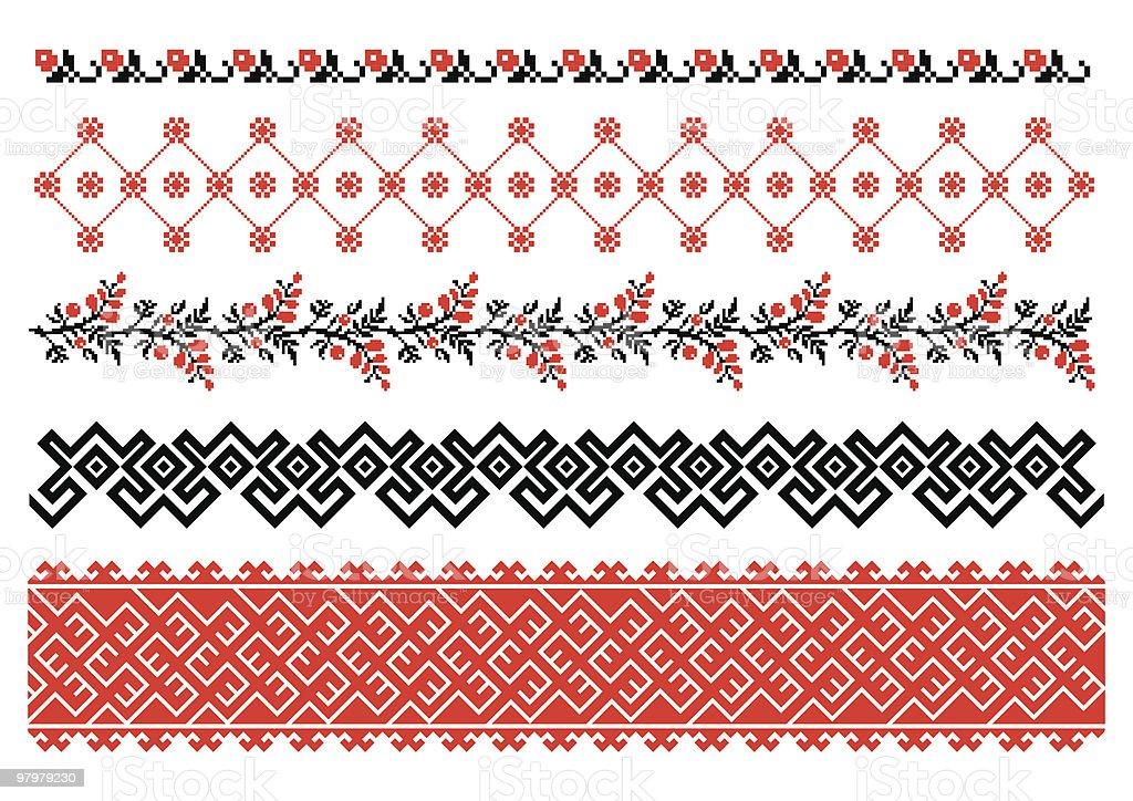 Ukrainian ornamental pattern royalty-free stock vector art