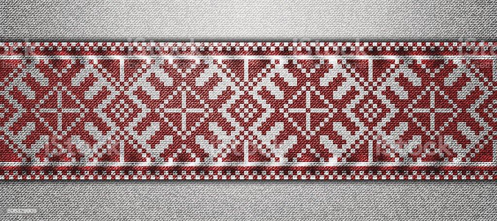 Ukrainian pattern vector art illustration