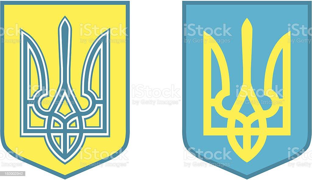 Ukrainian trident vector art illustration