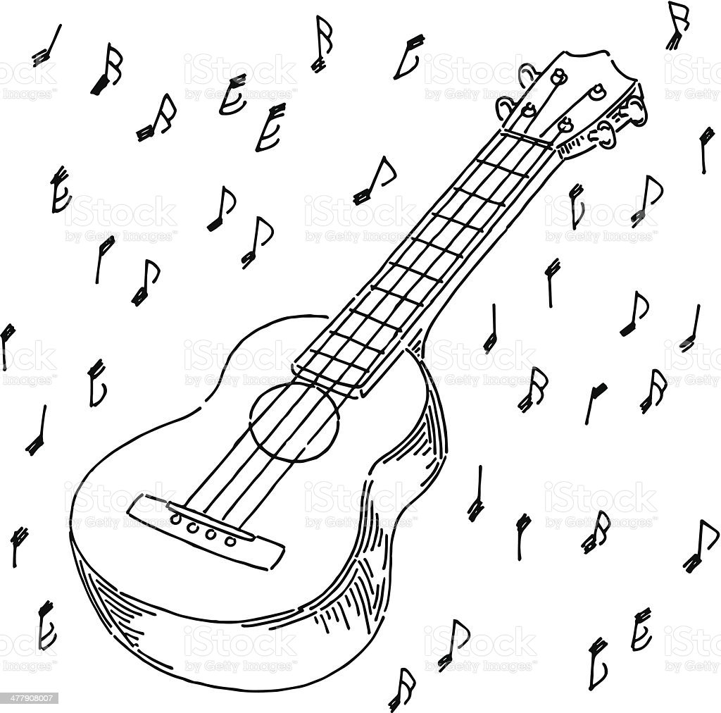 Ukulele royalty-free stock vector art