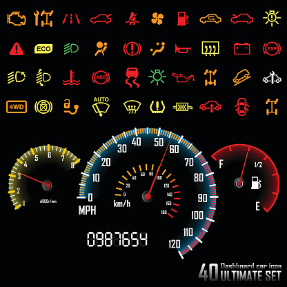 Ultimate dashboard 40 icons.