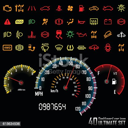 Vector Illustration : Ultimate dashboard 40 icons.