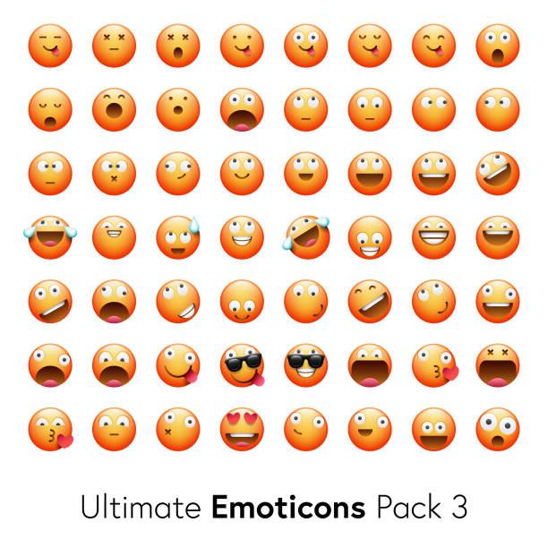 Pack de emoticonos Ultimate 3 - ilustración de arte vectorial