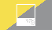 istock Ultimate Gray and Illuminating, textile cloth texture coloring in trend color of the year 2021 1292444789