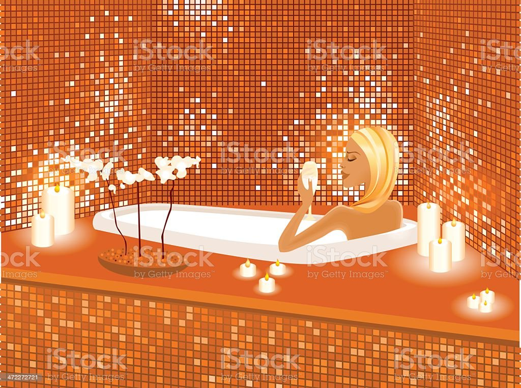 Ultimate relaxation vector art illustration