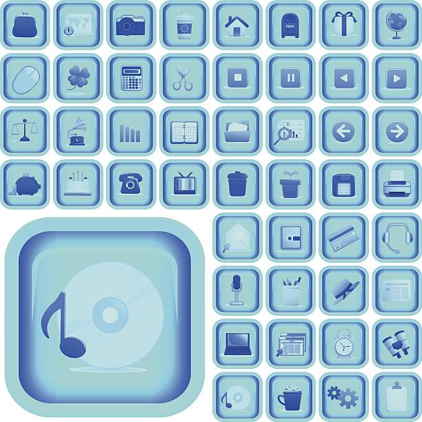 ultimative vektor icon-set und knopf - laptoptaschen stock-grafiken, -clipart, -cartoons und -symbole