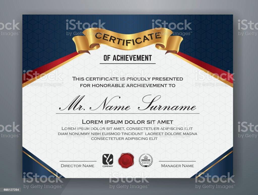 Ultipurpose Moderne Zertifikatvorlage Stock Vektor Art und mehr ...