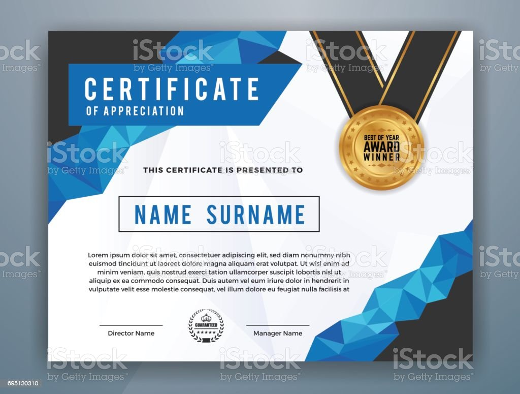 Ultipurpose Moderne Zertifikatvorlage Vektor Illustration 695130310 ...