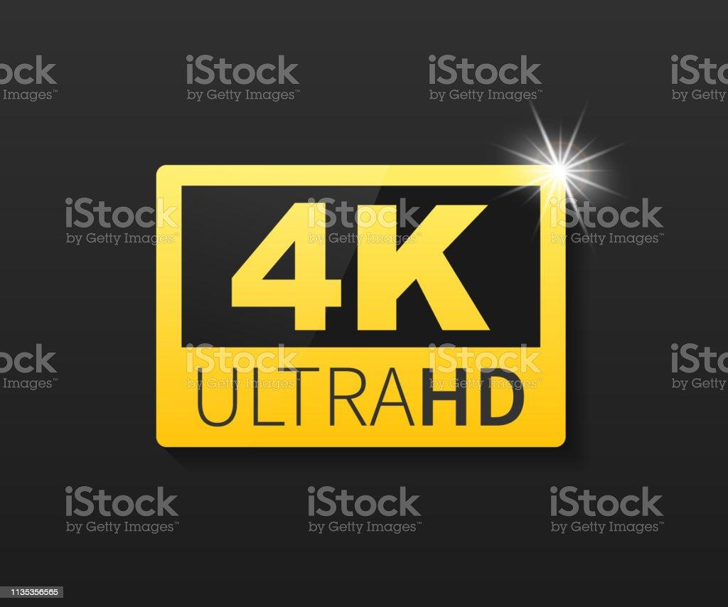4k Ultra Hd Label High Technology Led Television Display Vector Illustration Immagini Vettoriali Stock E Altre Immagini Di Caratteri Digitali Istock