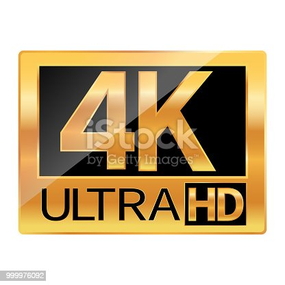 istock 4K Ultra HD resolution icon for web and mobile 999976092