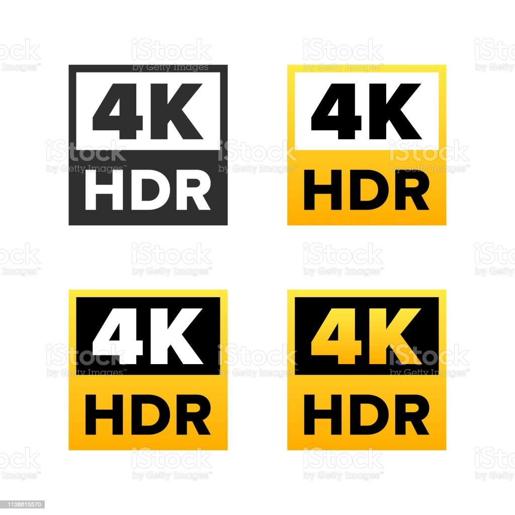 4k Ultra Hd Sign Stock Illustration Download Image Now Istock