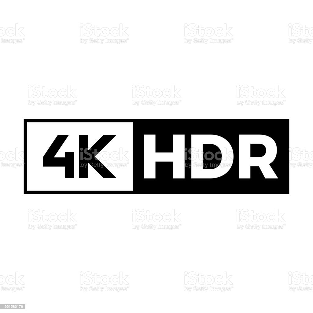 4k ultra hd symbol stock vector art & more images of 4k resolution