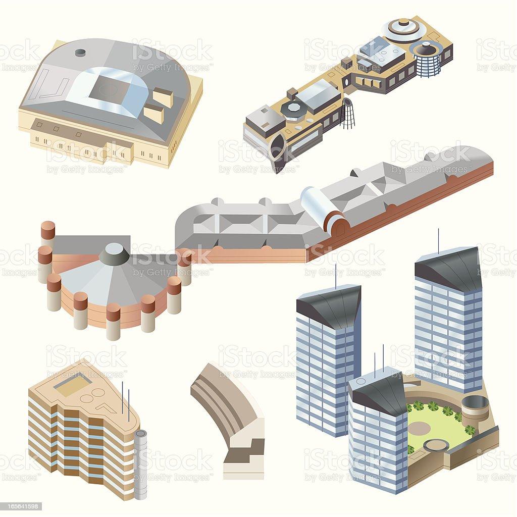 Ultra Modern buildings #1 vector art illustration