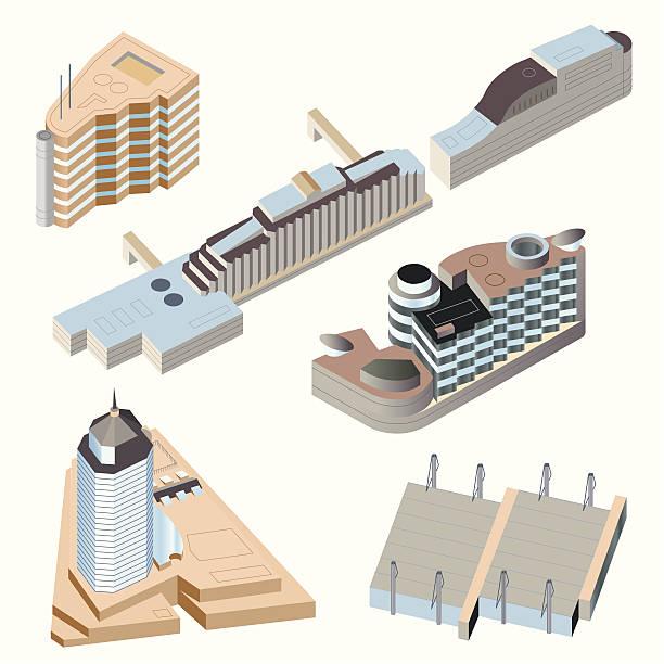 Ultra Modern buildings #2 vector art illustration
