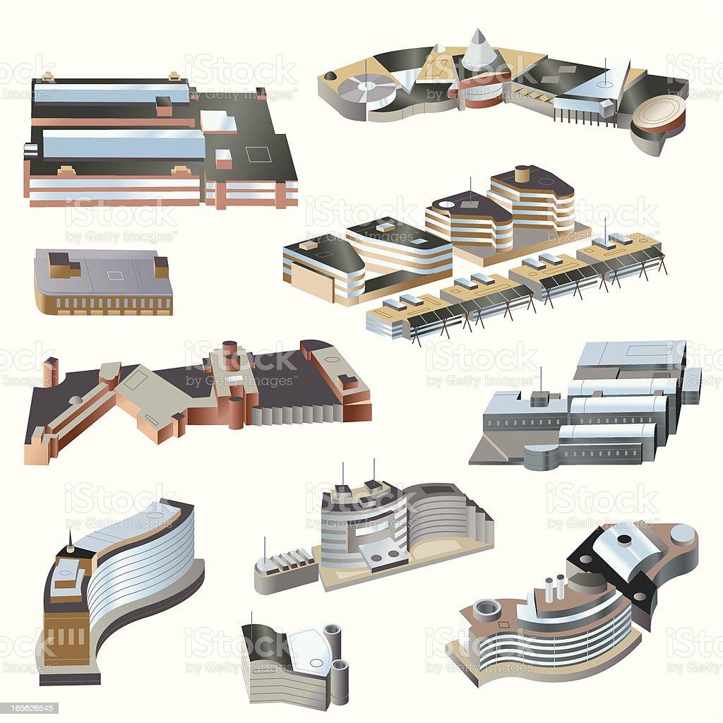 Ultra modern buildings#3 vector art illustration