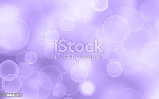 istock Ultra Violet glitter bokeh background. Festive and sparkles. 1280907907
