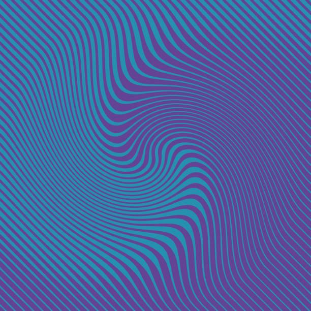 ultra violet halbton muster, abstrakte hintergrund wellige, wellenförmige linien - morphing stock-grafiken, -clipart, -cartoons und -symbole
