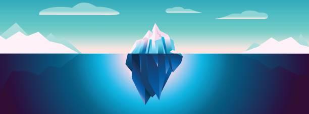 ilustrações de stock, clip art, desenhos animados e ícones de ultra violet iceberg background - iceberg