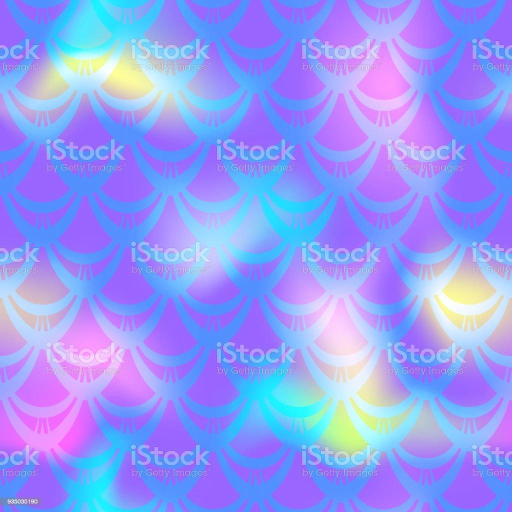 Ultra violet mermaid skin vector background. Multicolored iridescent background. vector art illustration