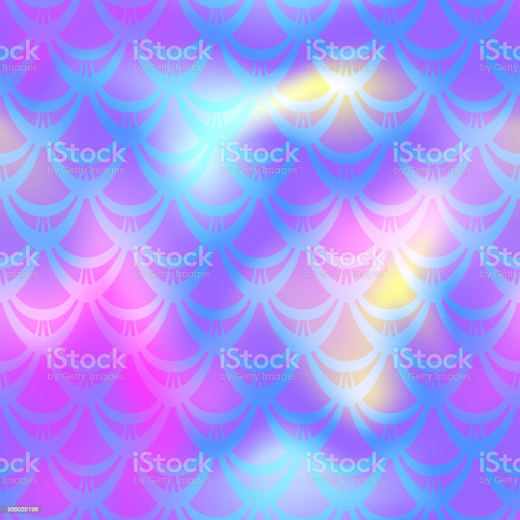 Ultra violet mermaid vector background. Multicolored iridescent background. vector art illustration