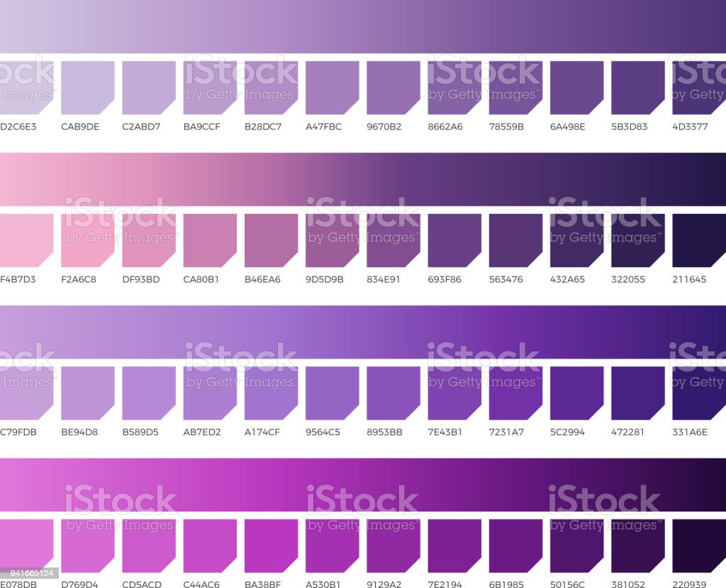Ultra Violet Pantone Color Vector Swatches Colors Of 2018 Stock