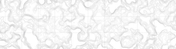 Ultra Wide Wallpaper Abstract Vector Background Ultra Wide Wallpaper Abstract Blank Topographic Contour Map Subtle White Vector Background contour line stock illustrations