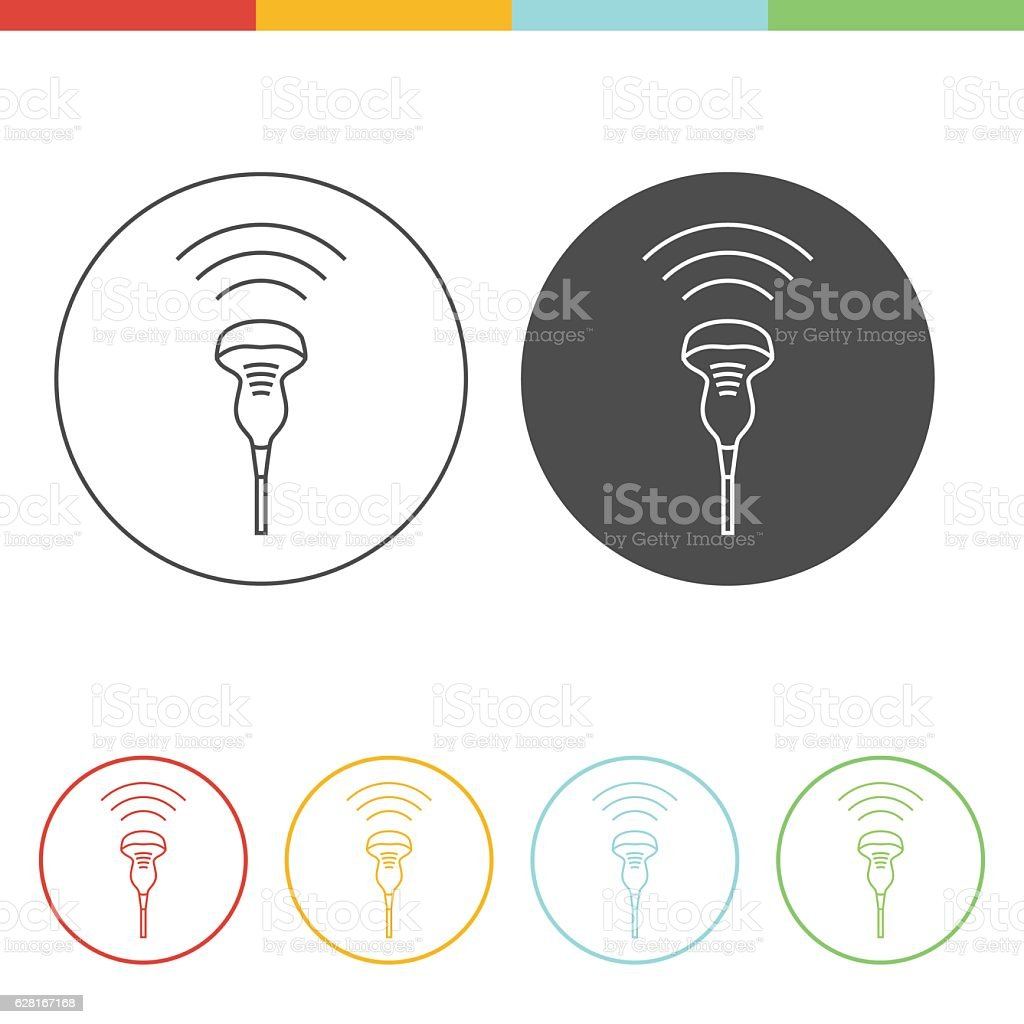 Ultrasound icon concept vector art illustration