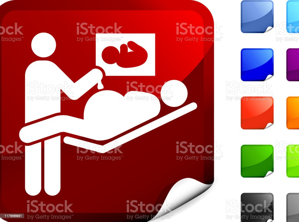 ultrasound on sticker royalty-free stock vector art