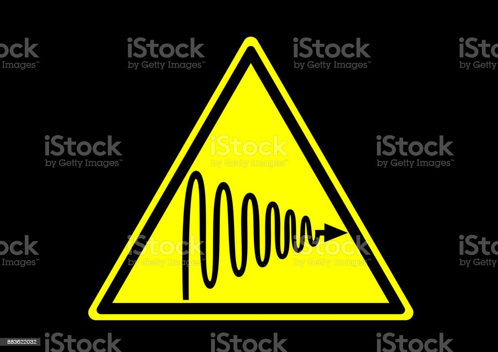 Ultraviolet licht waarschuwingvectorkunst illustratie
